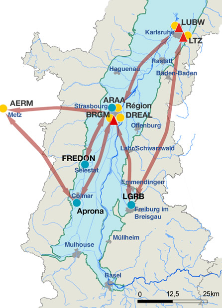 Carte du réseau LOGAR
